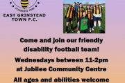EGTFC Disability Team Recruiting Players Now.